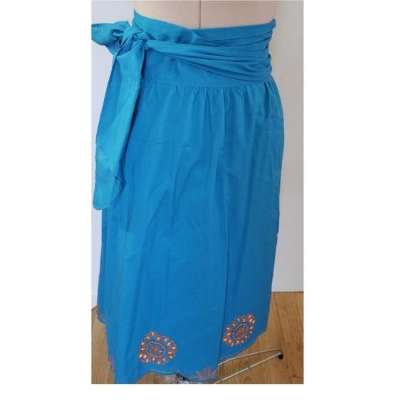 BCBGMaxAzria Dresses & Skirts - Bcbgmaxazria Full Wrap Skirt Beaded Details Small